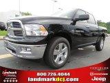 2012 Black Dodge Ram 1500 Big Horn Crew Cab 4x4 #66615720