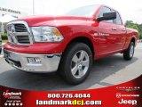 2012 Flame Red Dodge Ram 1500 Big Horn Quad Cab 4x4 #66615716