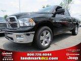 2012 Black Dodge Ram 1500 Big Horn Quad Cab #66615715