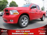 2012 Flame Red Dodge Ram 1500 Express Quad Cab #66615710