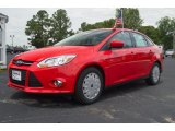 2012 Race Red Ford Focus SE SFE Sedan #66616059
