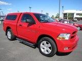 2012 Flame Red Dodge Ram 1500 Express Regular Cab 4x4 #66616049