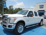 2012 White Platinum Metallic Tri-Coat Ford F250 Super Duty Lariat Crew Cab 4x4 #66680993