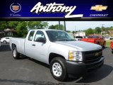 2012 Silver Ice Metallic Chevrolet Silverado 1500 Work Truck Extended Cab 4x4 #66681546