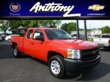 2012 Victory Red Chevrolet Silverado 1500 Work Truck Extended Cab 4x4 #66681544