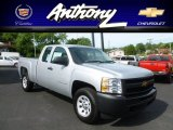 2012 Silver Ice Metallic Chevrolet Silverado 1500 Work Truck Extended Cab 4x4 #66681543