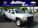 2012 Silver Ice Metallic Chevrolet Silverado 1500 Work Truck Extended Cab 4x4 #66681542