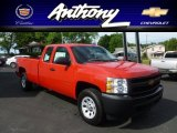 2012 Victory Red Chevrolet Silverado 1500 Work Truck Extended Cab 4x4 #66681539