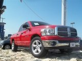 2007 Flame Red Dodge Ram 1500 Lone Star Edition Quad Cab #66680913