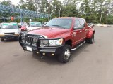 2008 Inferno Red Crystal Pearl Dodge Ram 3500 SLT Mega Cab 4x4 Dually #66681373