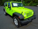 2012 Jeep Wrangler Unlimited Gecko Green
