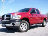 2008 Inferno Red Crystal Pearl Dodge Ram 1500 ST Quad Cab 4x4 #6560309