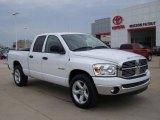 2008 Bright White Dodge Ram 1500 Big Horn Edition Quad Cab #6563187