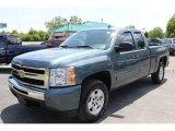 2009 Blue Granite Metallic Chevrolet Silverado 1500 LT Extended Cab 4x4 #66767915