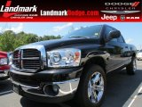 2007 Brilliant Black Crystal Pearl Dodge Ram 1500 Thunder Road Quad Cab #66774055