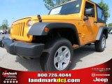 2012 Dozer Yellow Jeep Wrangler Sport 4x4 #66774039