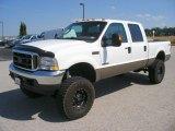 2004 Oxford White Ford F250 Super Duty Lariat Crew Cab 4x4 #66773939