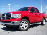 2007 Flame Red Dodge Ram 1500 Big Horn Edition Quad Cab 4x4 #6637335