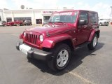 2011 Deep Cherry Red Crystal Pearl Jeep Wrangler Sahara 4x4 #66774173
