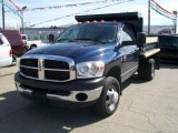 2007 Patriot Blue Pearl Dodge Ram 3500 ST Regular Cab Dually Chassis #6568643