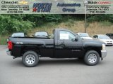 2012 Black Chevrolet Silverado 1500 LS Regular Cab 4x4 #66774075
