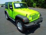 2012 Gecko Green Jeep Wrangler Sport S 4x4 #66774292