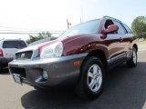 2004 Merlot Red Hyundai Santa Fe GLS 4WD #66820890