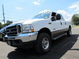 2004 Oxford White Ford F250 Super Duty Lariat Crew Cab 4x4 #66820873