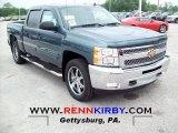 2012 Blue Granite Metallic Chevrolet Silverado 1500 LT Crew Cab 4x4 #66820541