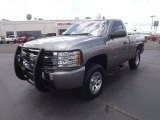 2009 Graystone Metallic Chevrolet Silverado 1500 LS Regular Cab 4x4 #66820499