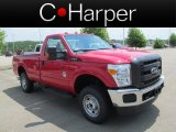 2012 Vermillion Red Ford F250 Super Duty XL Regular Cab 4x4 #66820087