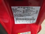2012 F250 Super Duty Color Code for Vermillion Red - Color Code: F1