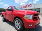 2012 Flame Red Dodge Ram 1500 Express Regular Cab #66820357
