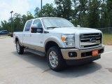 2012 White Platinum Metallic Tri-Coat Ford F250 Super Duty King Ranch Crew Cab 4x4 #66883088