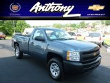 2012 Blue Granite Metallic Chevrolet Silverado 1500 Work Truck Regular Cab 4x4 #66883054