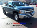 2012 Blue Granite Metallic Chevrolet Silverado 1500 LT Regular Cab 4x4 #66882688