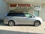 2012 Silver Sky Metallic Toyota Sienna SE #66882245