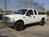 2002 Oxford White Ford F250 Super Duty XLT SuperCab 4x4 #6569676