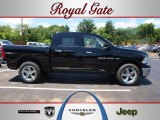 2012 Black Dodge Ram 1500 SLT Crew Cab 4x4 #66882192