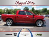 2012 Deep Cherry Red Crystal Pearl Dodge Ram 1500 Laramie Crew Cab 4x4 #66882190