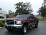 2004 Dark Toreador Red Metallic Ford F250 Super Duty Lariat SuperCab 4x4 #6564597