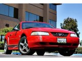 2002 Torch Red Ford Mustang V6 Convertible #66952323