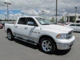 2012 Bright White Dodge Ram 1500 Laramie Crew Cab 4x4 #66951993