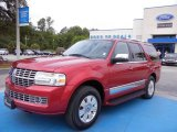 2007 Vivid Red Metallic Lincoln Navigator Luxury #66951624