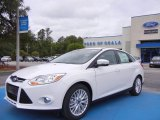 2012 Oxford White Ford Focus SEL Sedan #66951621