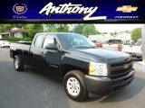 2012 Black Chevrolet Silverado 1500 Work Truck Extended Cab 4x4 #66952262