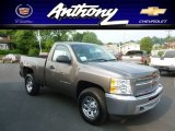 2012 Mocha Steel Metallic Chevrolet Silverado 1500 LS Regular Cab 4x4 #66952261
