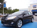 2012 Tuxedo Black Metallic Ford Focus SEL 5-Door #66951616