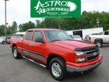 2006 Victory Red Chevrolet Silverado 1500 LT Extended Cab 4x4 #66952178