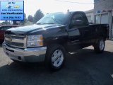 2012 Black Chevrolet Silverado 1500 LT Regular Cab 4x4 #66951541